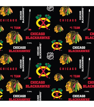 CHICAGO BLACKHAWKS -- Greek T-Shirt with Stitched Double Fabric Letters