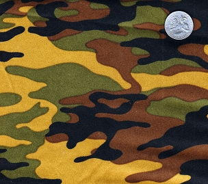 CAMO -- Greek T-Shirt with Stitched Double Fabric Letters
