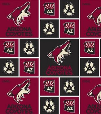 ARIZONA COYOTES -- Greek T-Shirt with Stitched Double Fabric Letters